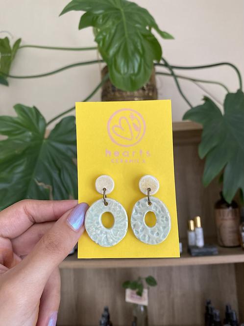 Encaje loops earrings by Hearts Ceramics