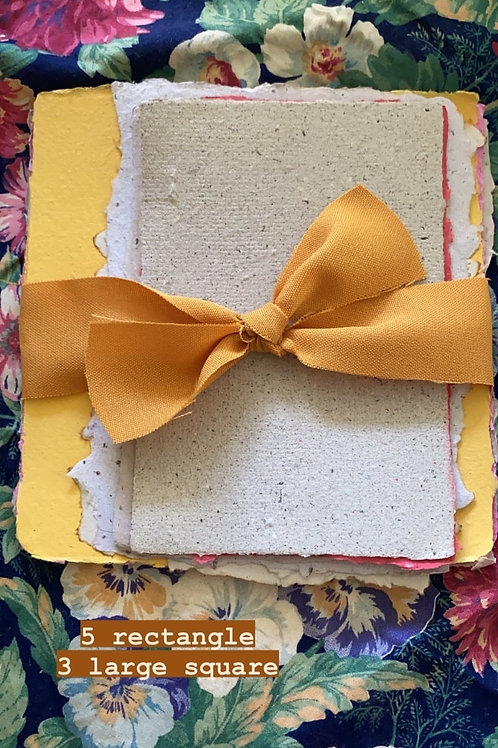 5 rectangle and 3 large Squares paper set by Paper & Flowers