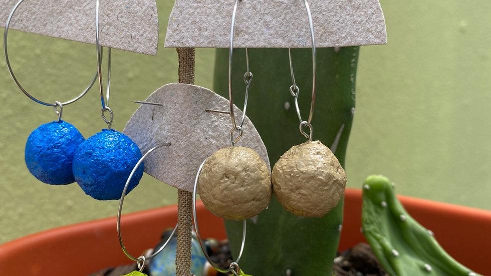 Bolitas Hoops Earrings -Papel Natura