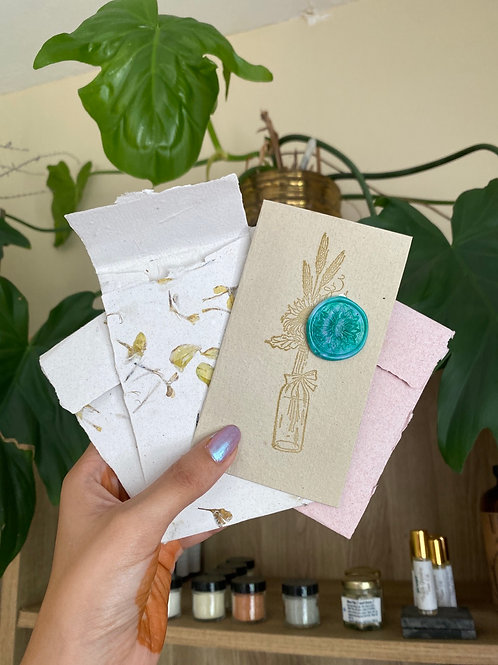 Postal and envelope by Papers & Flowers