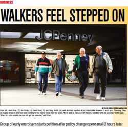 Walkers feel stepped on