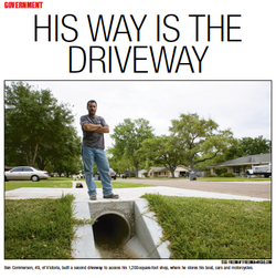 His way is the driveway
