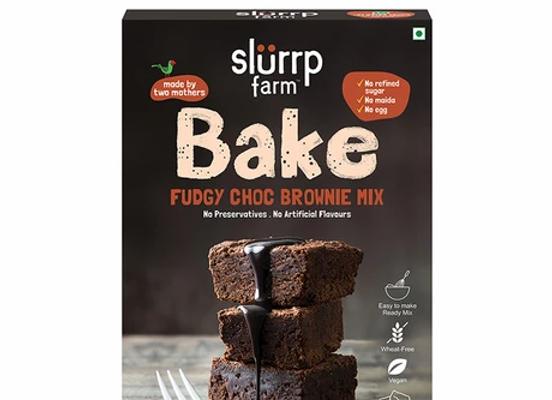 Fudgy Chocolate Brownie Mix   No Maida, Eggless, Multigrain