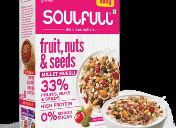 Soulfull  Fruit, Nut & Seeds Millet Muesli - 500g