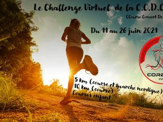 La CCDC - Challenge Virtuel du 11 au 26 juin 2021