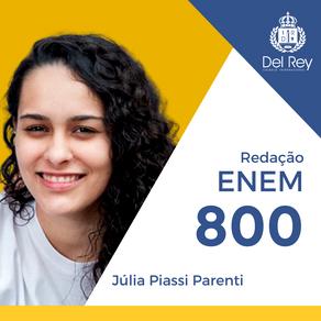 Destaques no #ENEM2020: Júlia Piassi Parenti