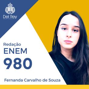 Destaques no #ENEM2020: Fernanda Carvalho de Souza