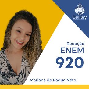 Destaques no #ENEM2020: Mariane de Pádua Neto