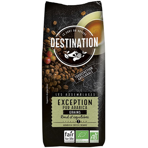CAFE EN GRAIN EXCEPTION - 100% PUR ARABICA 250 GR