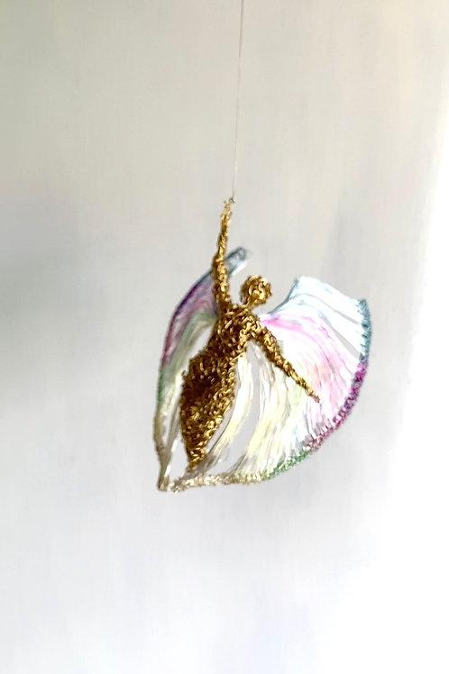 Pearl Brass Wire Figure