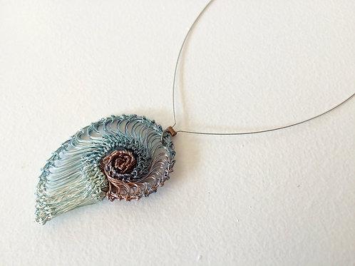 Small Seashore Scallop Pendant