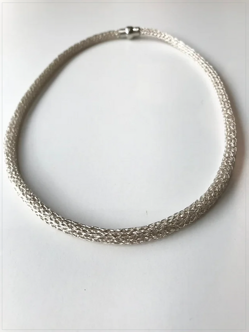 Silver tone Rope