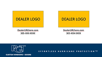 Two dealer tags - used in spot and sheet
