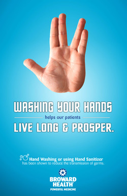 Broward Health _ Hand Washing Poster - Prosper