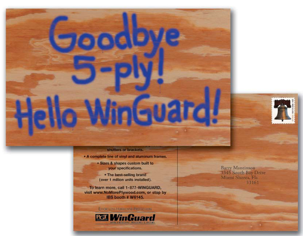 Direct Mail Postcard (Wood)