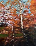 """Birch 15""""x 18"""" Oil on Canvas"""