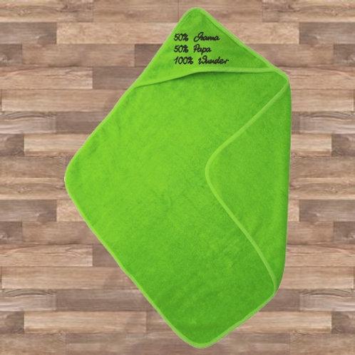 Babyhandtuch mit Kapuze - grün