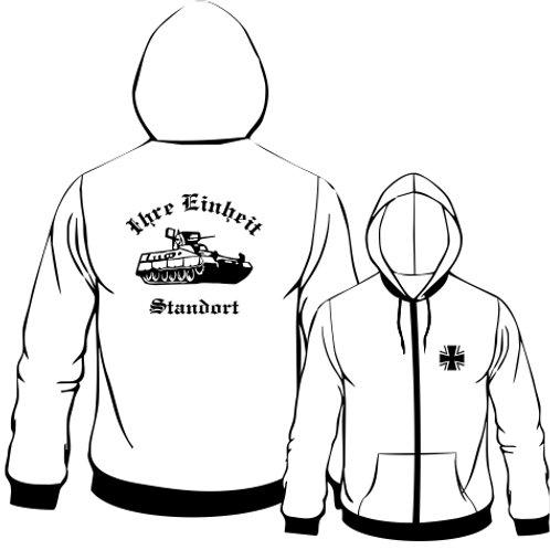 Hooded Sweat Jacket beidseitig bedruckt, Motiv: BW_037
