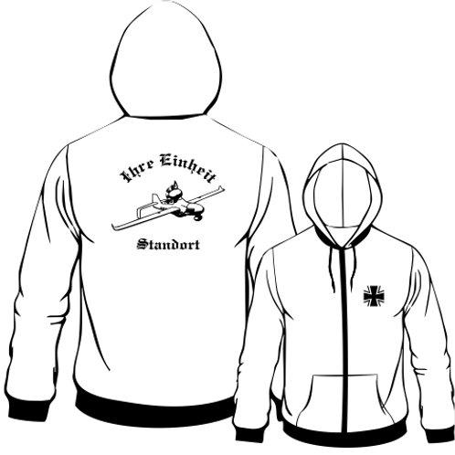 Hooded Sweat Jacket beidseitig bedruckt, Motiv: BW_006