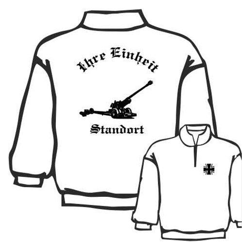 Zip Neck Sweatshirt beidseitig bedruckt, Motiv: BW_002