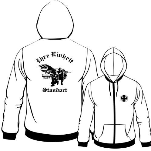 Hooded Sweat Jacket beidseitig bedruckt, Motiv: BW_038