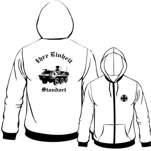 Hooded Sweat Jacket beidseitig bedruckt, Motiv: BW_021