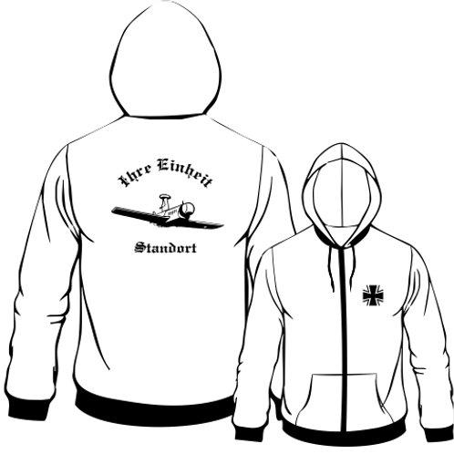 Hooded Sweat Jacket beidseitig bedruckt, Motiv: BW_007