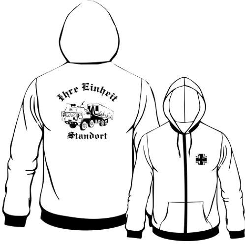 Hooded Sweat Jacket beidseitig bedruckt, Motiv: BW_067