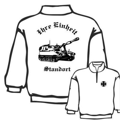 Zip Neck Sweatshirt beidseitig bedruckt, Motiv: BW_005