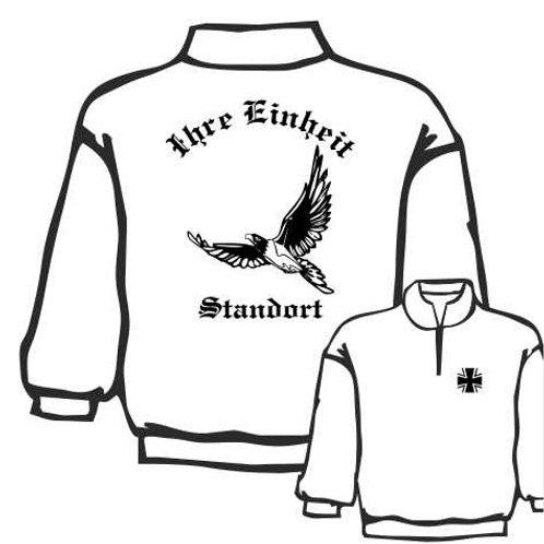 Zip Neck Sweatshirt beidseitig bedruckt, Motiv: BW_011