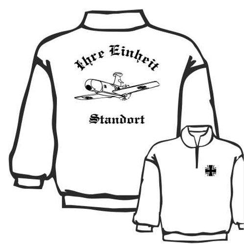 Zip Neck Sweatshirt beidseitig bedruckt, Motiv: BW_015
