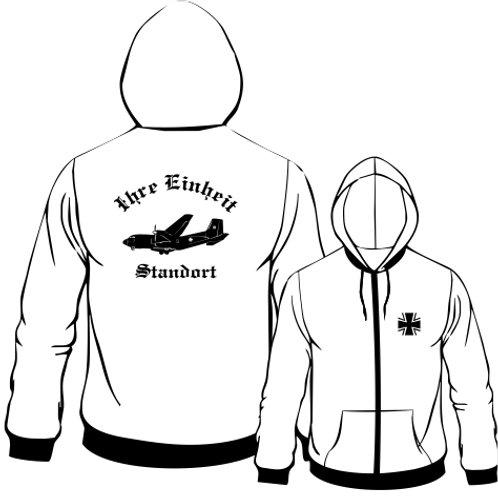 Hooded Sweat Jacket beidseitig bedruckt, Motiv: BW_051