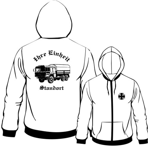 Hooded Sweat Jacket beidseitig bedruckt, Motiv: BW_013