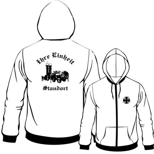 Hooded Sweat Jacket beidseitig bedruckt, Motiv: BW_046