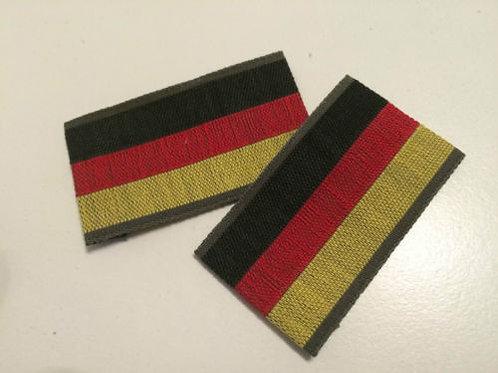 2 Stück Deutschland Aufnäher, Patch, Germany Flaggen gewebt 29x54mm