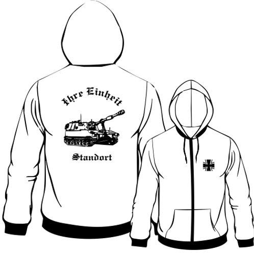 Hooded Sweat Jacket beidseitig bedruckt, Motiv: BW_005