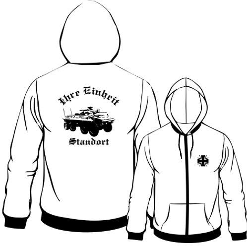 Hooded Sweat Jacket beidseitig bedruckt, Motiv: BW_023
