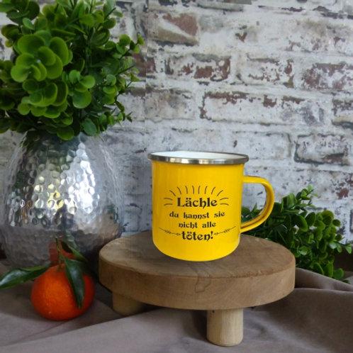 Emaille-Tasse I Lächle, du kannst Sie nicht alle töten