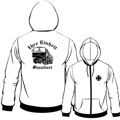 Hooded Sweat Jacket beidseitig bedruckt, Motiv: BW_061