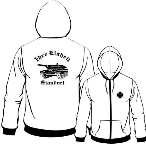 Hooded Sweat Jacket beidseitig bedruckt, Motiv: BW_027