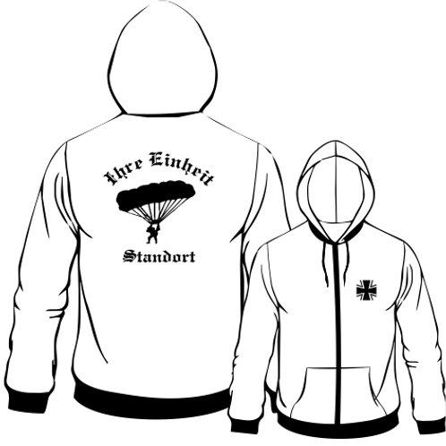 Hooded Sweat Jacket beidseitig bedruckt, Motiv: BW_029