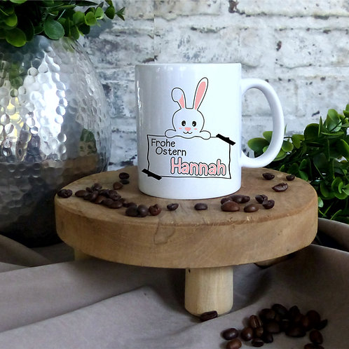 Tasse I Frohe Ostern individuell rosa