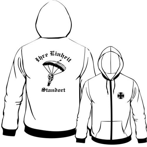 Hooded Sweat Jacket beidseitig bedruckt, Motiv: BW_025