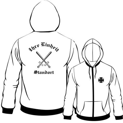Hooded Sweat Jacket beidseitig bedruckt, Motiv: BW_064