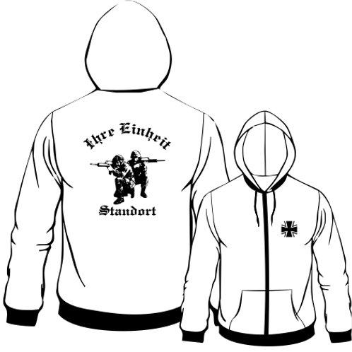 Hooded Sweat Jacket beidseitig bedruckt, Motiv: BW_019