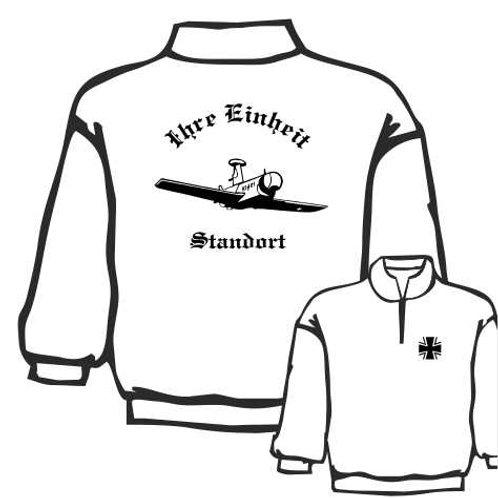 Zip Neck Sweatshirt beidseitig bedruckt, Motiv: BW_007