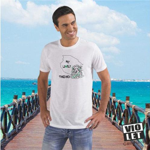 Unisex Piqué Shirt weiß mit Tanzania - Motiv