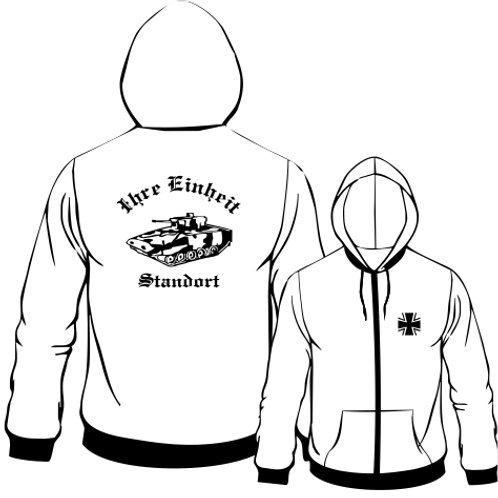 Hooded Sweat Jacket beidseitig bedruckt, Motiv: BW_039