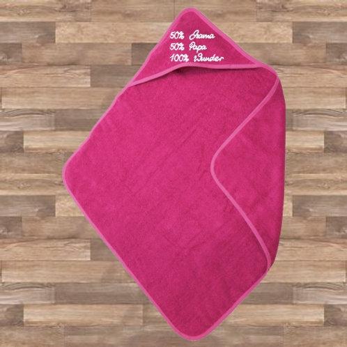 Babyhandtuch mit Kapuze -pink