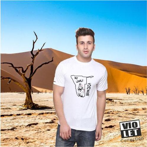 Unisex Piqué Shirt weiß mit Namibia - Motiv